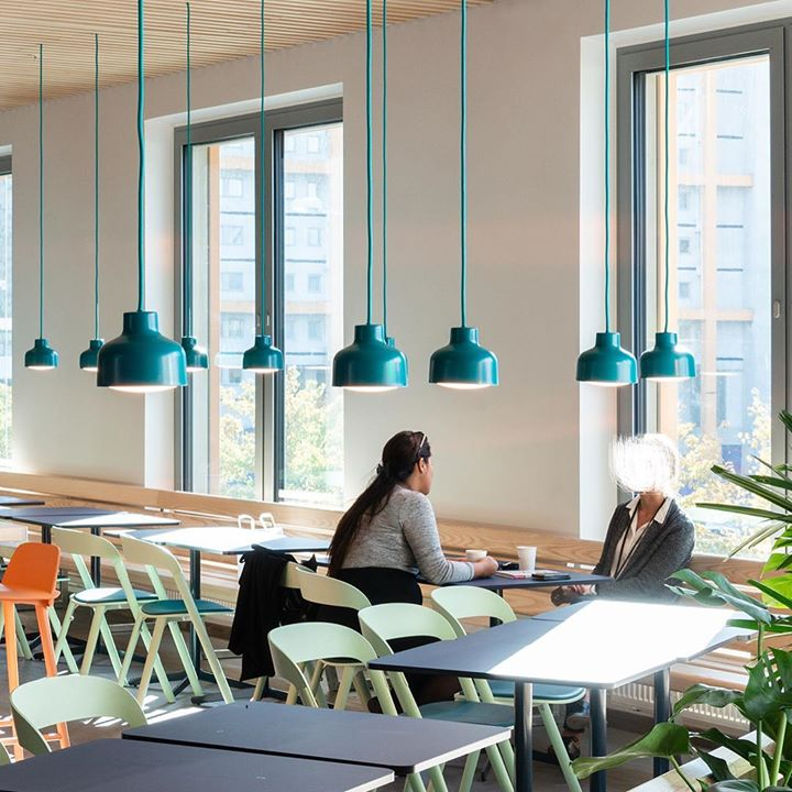 LENS pendants in custom colour at 3 office in Stockholm...