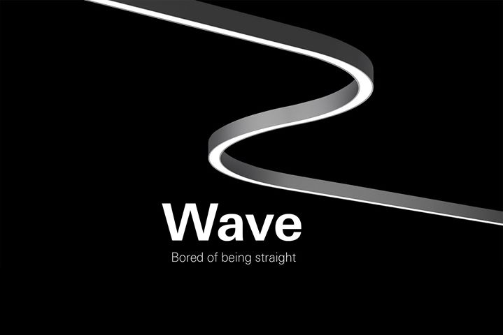 (PRODUCT) Wave. It's a luminaire with the seamless abil...